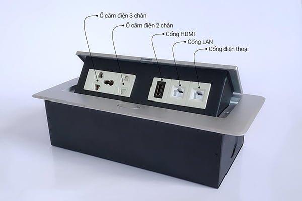 Hộp điện âm bàn, ổ cắm âm bàn